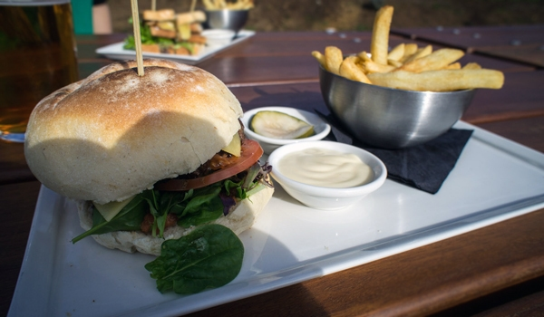 Tuck into a sensational burger, pasta or pizza Brewery Lunch